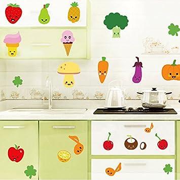 S Microfibre Twlund Cartoon Obst Gemüse Wand Dekoration