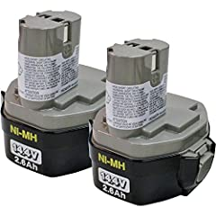 """The Makita 193158-3 14.4V 2.6 Ah Ni-MH Battery produces up to 70 percent longer run time than standard Ni-Cad batteries. These pod-style Ni-MH batteries are built with no """"memory effect"""". Shock-absorbing construction protects battery cells ag..."""