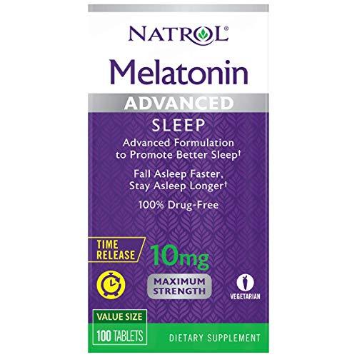 Natrol Melatonin Advanced Sleep Tablets with Vitamin B6, Helps You Fall Asleep Faster, Stay Asleep Longer, 2-Layer…