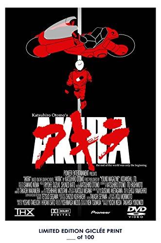 RARE POSTER katsuhiro otomo AKIRA anime movie 1988 giclee REPRINT #'d/100!! 12x18 - 1988 Poster