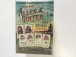 2016 Topps Allen & Ginter Baseball Blaster Box - Value Box contains up to 48 Cards With 8 Packs and 6 Cards Per Pack.