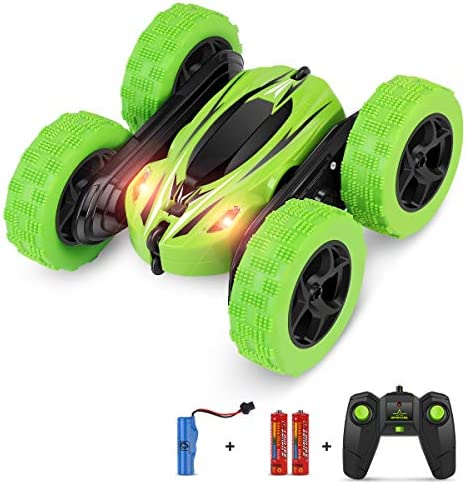 BIFYTON Remote Control Car, RC Car Remote Control Stunt Car Double Sided Rotating Tumbling 360° Flips, Rc Truck with Led Headlights, 4 wheel drive 2.4Ghz Off-Road Racing Vehicles for Kids