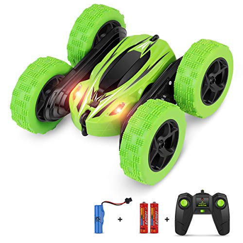 BIFYTON Remote Control Car, RC Car Remote Control Stunt Car Double Sided Rotating Tumbling 360 Degree Flips, RC Truck with LED Headlights, 4WD 2.4GHz Off-Road Racing Vehicles for Kids