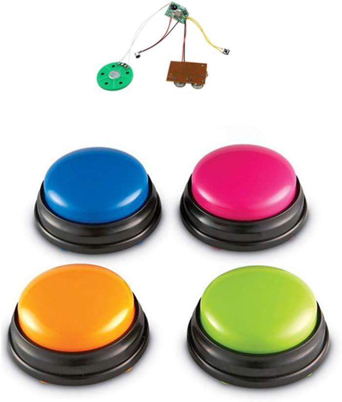 Pink yorten Kleine Gr/ö/ße Easy Carry Sprachaufzeichnung Sound-Taste f/ür Kinder Interaktives Spielzeug Antwortkn/öpfe Orange Blau Gr/ün ABS-Kunststoff