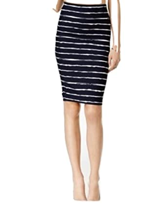 e2cb5a638d Image Unavailable. Image not available for. Color: Bar Iii Striped Pencil  Skirt XS Black White
