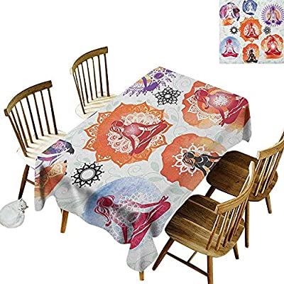Amazon.com: Checkered Rectangular Tablecloth W54 x L72 Lotus ...