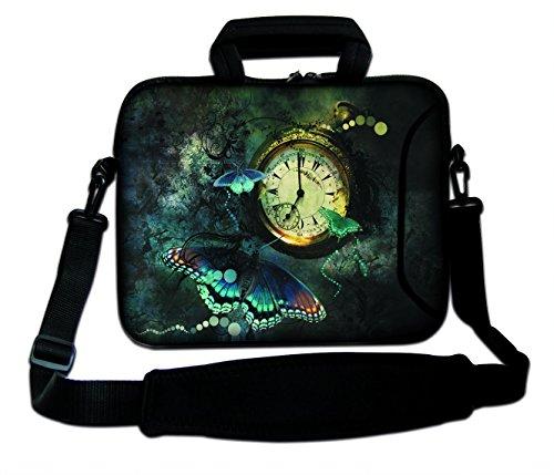 DCCN 17 Zoll / 17,3 Zoll Laptoptasche Neopren Notebooktasche mit Zubehörfach und Schultergurt Typ 28