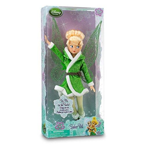 Disney Store Tinkerbell Fairies Winter Doll Secret of The Wings Fluttering Wings