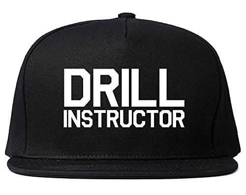 Drill Instructor Snapback Hat Cap Black
