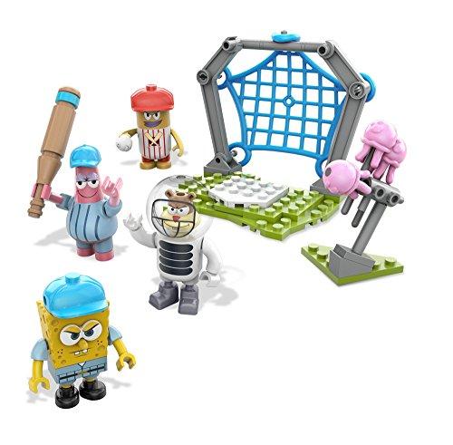 Mega Bloks Spongebob Squarepants Jellyfish Baseball Building Playset