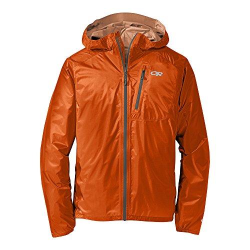 Outdoor Research Men's helium ii Jacket, Ember/Charcoal, (Ripstop Nylon Jacket)