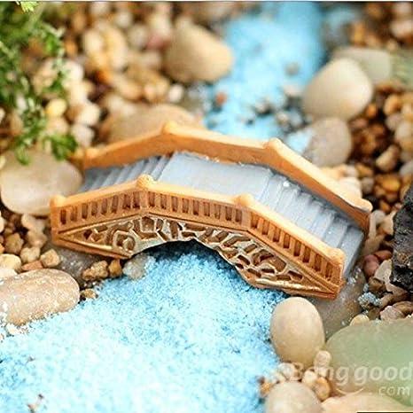 mark8shop Micro paisaje decoración jardín, Puente de Madera de resina DIY Decor: Amazon.es: Productos para mascotas