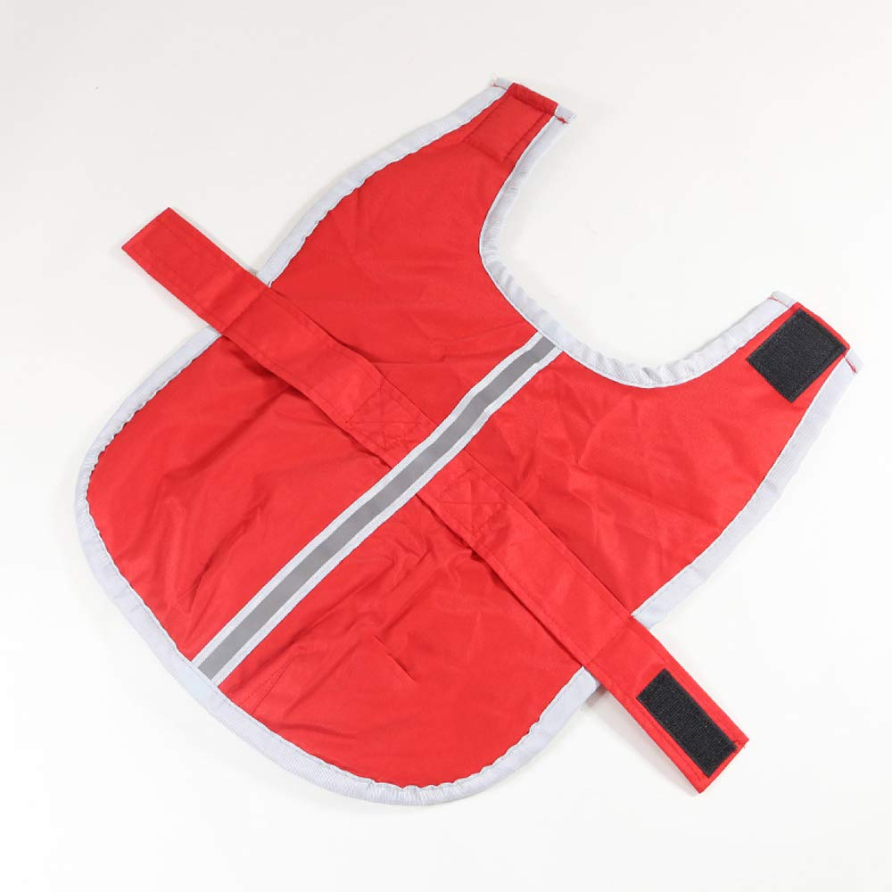 Red Medium Red Medium Waterproof Dog Coat Autumn and Winter golden Retriever Labrador Double-Sided Wear Big Dog Clothes,Red-M