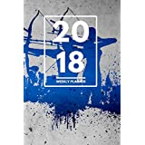 """2018 Planner: Weekly Monthly Planner Calendar Appointment Book For 2018 6"""" x 9"""" - Bow And Arrow Archery Edition (2018 Weekly Planner) (English Edition)"""