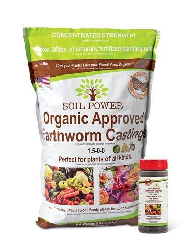 Soil Power Organic Earthworm Castings, 5 lbs.