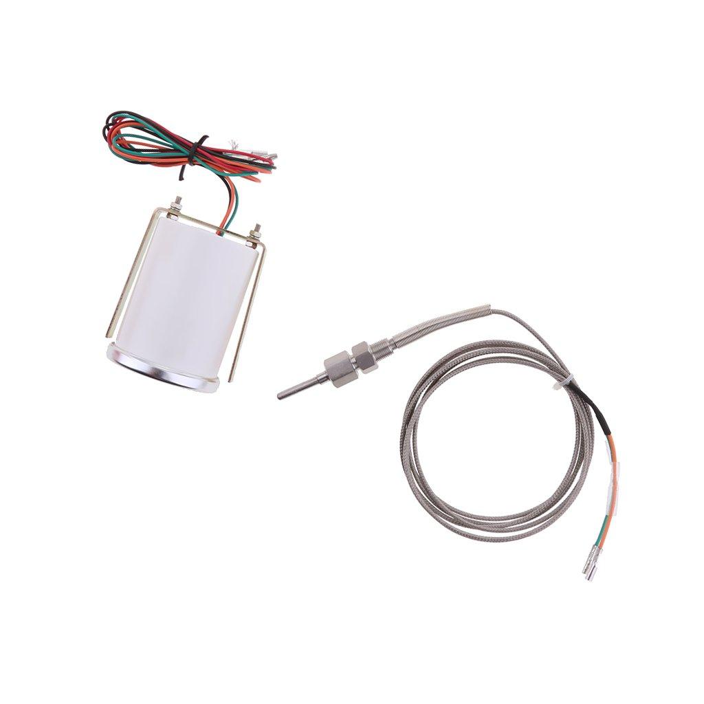 kesoto 252Mm Egt Pyro Gauge 0-900C Pir/ómetro De Temperatura Del Gas De Escape