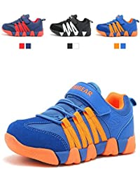 Boys Sneakers Casual Strap Lightweight Sports Running...