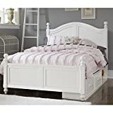 NE Kids Lake House Payton Full Arch Storage Bed in White