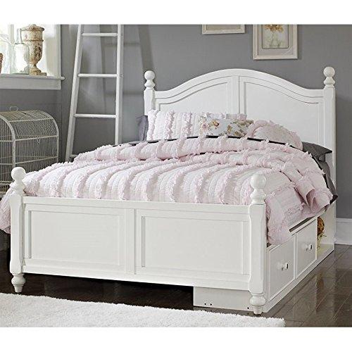 NE Kids Lake House Payton Full Arch Storage Bed in White by NE Kids