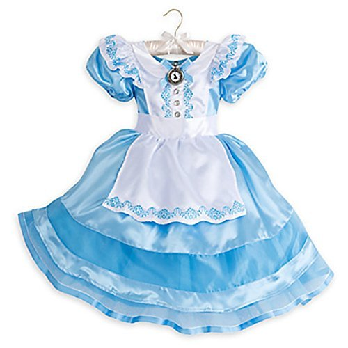 Disney Store Little Girls Alice in Wonderland Costume Dress Sz 3T 4T 5/6 (4T) (Alice In Wonderland Childrens Costumes)