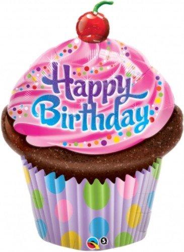 - Happy Birthday Shaped Cupcake Balloon