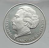 1975 POLAND Music Composer Ignacy Jan Paderewski Proof AR Polish Coin i63542