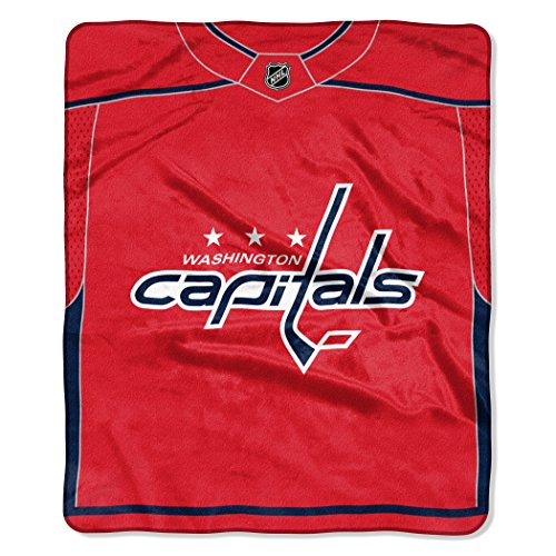 (The Northwest Company Officially Licensed NHL Washington Capitals Pro Jersey Plush Raschel Throw Blanket, 50