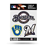 Milwaukee Brewers Triple Sticker Multi Decal Spirit Sheet Auto Home Baseball