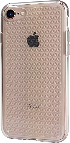 Silk iPhone 7/8 Clear Case - PUREVIEW Protective Slim Grip Cover - Queen of Diamonds - Crystal Clear
