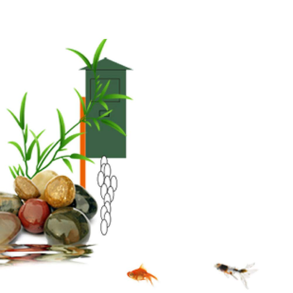 QuTess Large Capacity Timing Automatic Fish Feeder for Aquarium Pond 5L Green