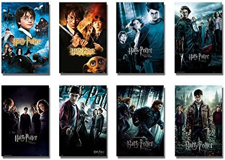 Harry Potter 1 8 Movie Posterprint Set 8 Individual Full Size Movie Posters Version 3 Size 24 X 36 Each