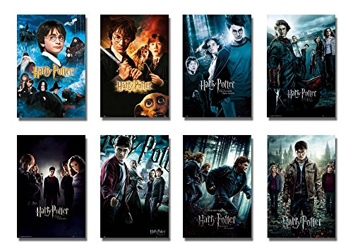 Click for larger image of Harry Potter 1-8 - Movie Poster/Print Set (8 Individual Full Size Movie Posters - Version 3) (Size: 24' x 36' each)