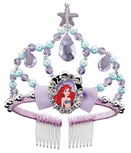 Disguise Ariel Classic Disney Princess The Little Mermaid Tiara, One Size Child, One Color (Little Mermaid Kids Costume)