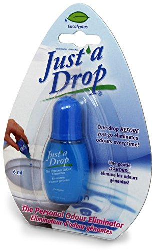 Just A Drop Travel Size Toilet Odor Neutralizer - Eucalyptus 6 Ml Deoderizer