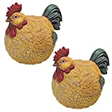 Design Toscano QM92452 Roly-Poly Ball of Chicken Statues (Set of 2)