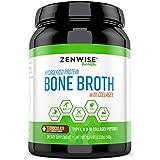 Hydrolyzed Bone Broth Protein Powder - Vital Type I, II & III Collagen Peptides from Bovine - Glucosamine, Chondroitin & Hyaluronic Acid - Joint, Skin, Immune & Muscle Health - 19.75 OZ
