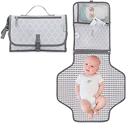 161d4988c7673f Amazon.com : Baby Portable Changing Pad, Diaper Bag, Travel Changing Mat  Station, Grey Large : Baby