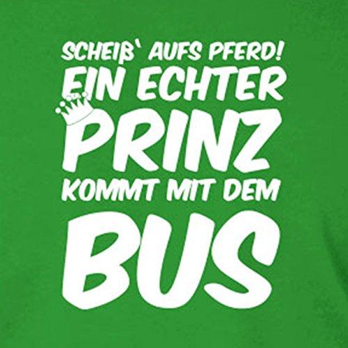 Ein echter Prinz kommt mit dem Bus - Stofftasche / Beutel Grau si7EmwTPj