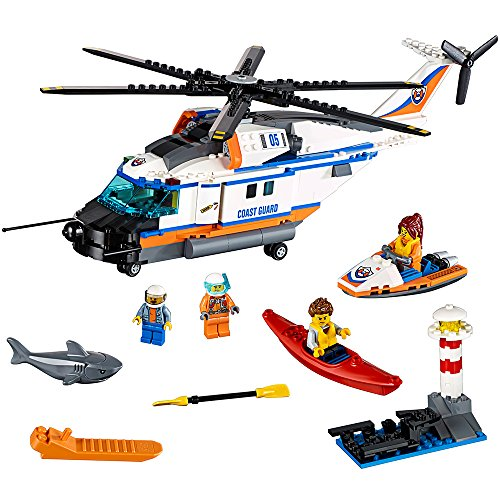 LEGO City Coast Guard Heavy-Duty Rescue Helicopter 60166 Building Kit (415 Piece)