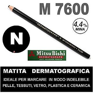 Matita dermatografica 7600 mitsubishi bianca n 1 matita per pelle plastica metallo vetro agendepoint