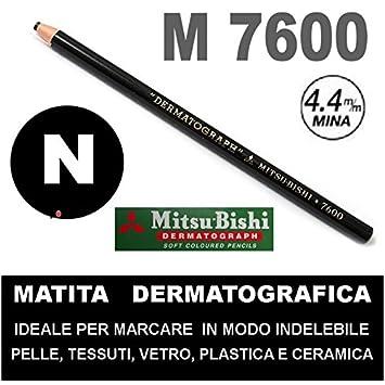 Matita dermatografica 7600 mitsubishi azzurro n 8 matita per pelle plastica metallo vetro agendepoint