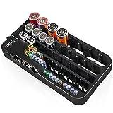 D-FantiX Battery Organizer with Battery Tester, Battery Caddy AA AAA Battery Holder Wall Mount Black