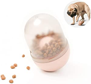 pidan Dog Treat Toy Roly Poly Food Ball Dispenser Made of ABS Safe and Funny for Medium and Small Dog Puppy(A Capsule can heal Loneliness)
