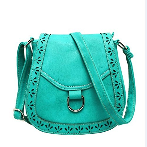 Walcy PU Leather Women's Handbag,Round Other - Short Glasses Face And Round Hair For