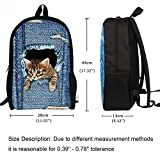 Freewander Children Cube Pattern Book Bags Casual Packs Back to School Backpacks