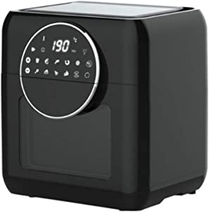 10L Air Fryer and Dehydrator – Large Capacity 1500W Oil Free Cooker with Upgraded Dial, 8 Presets and Modes and 6 Accessories, Includes Recipe Book