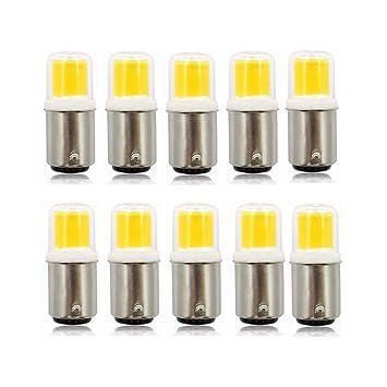SHENNANJI Bombillas LED de bajo consumo para iluminación doméstica, Paquete de 10 LED BA15D Base de bayoneta ...