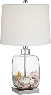 Square Glass 21 3 4 High Fillable Table Lamp