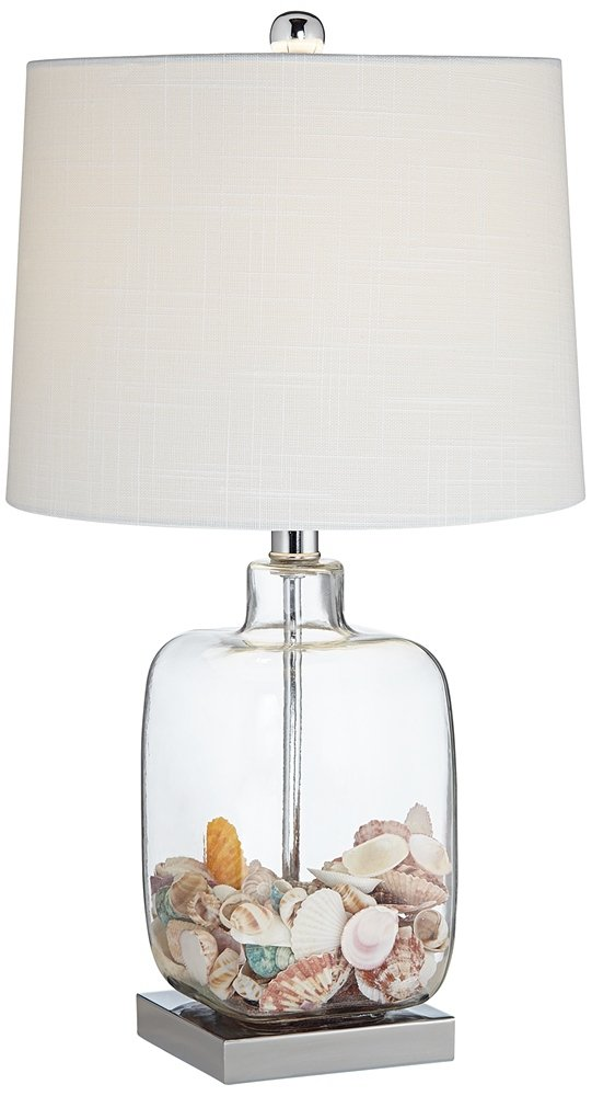 Square Glass 21 3/4'' High Fillable Table Lamp