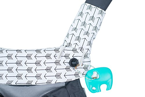 Premium 2 Packs Drool and Teething Reversible Cotton Pad | Fits Ergobaby Four Position 360 and Most Baby Carrier | Gray Arrow Cross Design | Hypoallergenic | Great Baby Shower Gift by Mila Millie by Mila Millie (Image #4)